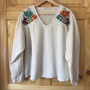 Hippie Laundry embroidered waffle knit top Sz 2X